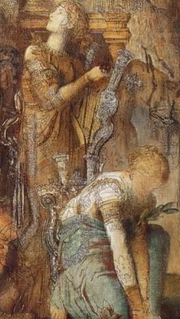 """Détail du tableau """"Apollon et les Muses"""" de Gustave Moreau"""